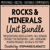 Rocks and Minerals Unit Bundle - Distance Learning