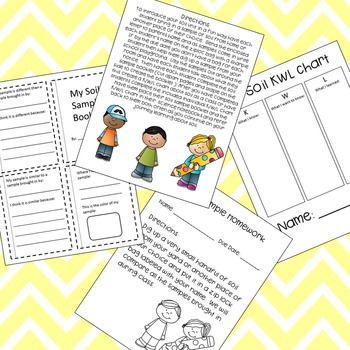 Soil Sample Observation Booklet for Interactive Notebooks- Unit Intro Activity