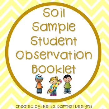 Soil Sample Observation Booklet for Interactive Notebooks-