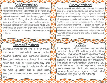 Soil Task Cards for Fluency and Comprehension