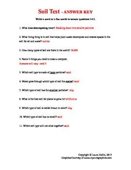 Soil Test/Assessment- 3rd, 4th, 5th
