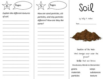 Soil Trifold - Reading Street 2nd Grade Unit 4 Week 3