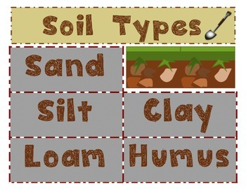 Soil Types Sorting Cards