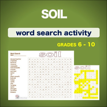 Soil * WordSearch * Vocabulary*