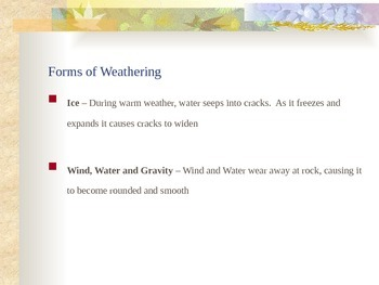 Soil and Erosion - Weathering