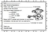Soiled Clothing Parent Note (Editable)