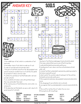 soil crossword by bow tie guy and wife teachers pay teachers