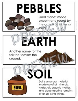 ONTARIO SCIENCE: GRADE 3 SOILS IN THE ENVIRONMENT ILLUSTRATED WORD WALL