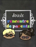 Soirée rencontre de parents - Meet the teacher FRENCH - VE