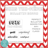 Sois Toi-Même Bulletin Board for French Class - adjectives