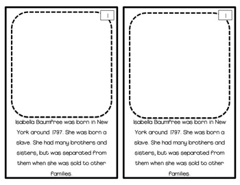 Sojourner Truth Unit for Primary Students