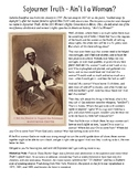 Sojourner Truth Ain't I a Woman Primary Source Activity