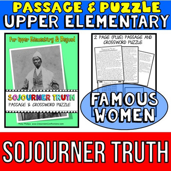 Sojourner Truth: Biography Passage and Comprehension Cross