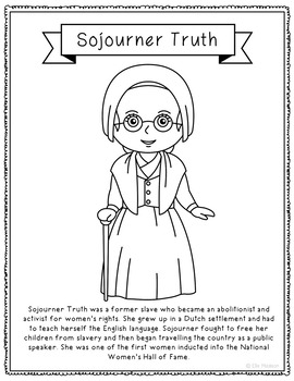 coloring pages for sojourner truth - photo#8