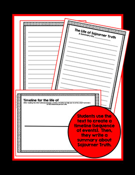 Sojourner Truth Biography with Comprehension Activities