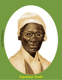 Sojourner Truth Realistic Clip Art, Coloring Page and Poster