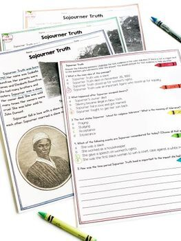 Sojourner Truth Differentiated Reading and Writing Activities