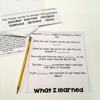 Sojourner Truth- Flip Book and Vocab Cards