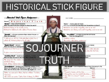 Sojourner Truth Historical Stick Figure (Mini-biography)