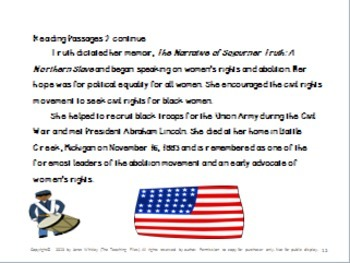 Sojourner Truth: Northern Slave For Grades 2-4 With Literacy Activities