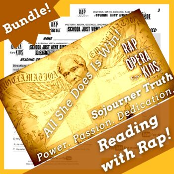 Sojourner Truth Activities and Sojourner Truth Worksheets with Biography Song