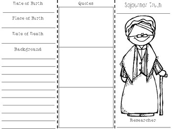 Sojourner Truth Biography Brochure