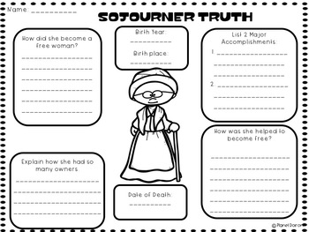 Sojourner Truth biography famous Americans black history month civil rights