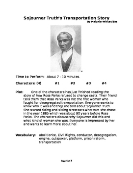 Sojourner Truth's Transportation Story - Small Group Reade