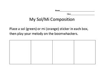 Sol/Mi Boomwhacker Composing