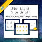 """Beat, Rhythm, and Solfege Charts for """"Star Light, Star Bright"""""""