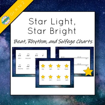 "Beat, Rhythm, and Solfege Icon Charts for ""Star Light, Sta"