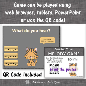Sol Mi Interactive Melody Game and Assessment {Dancing Tiger}