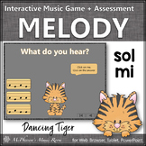 Solfege   Sol Mi Interactive Melody Game + Assessment {Tiger}