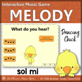 Spring Music Game: Sol Mi Interactive Melody Game {Dancing Chick}