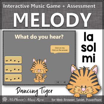Sol Mi La Interactive Melody Game and Assessment {Dancing Tiger}