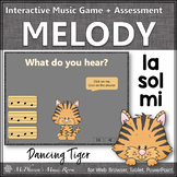Solfege   Sol Mi La Interactive Melody Game + Assessment {Tiger}