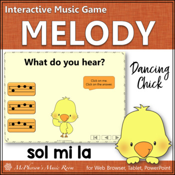 Sol Mi La Interactive Music Game {Dancing Chick}