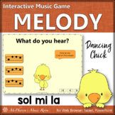 Spring Music Game: Sol Mi La Interactive Melody Game {Dancing Chick}