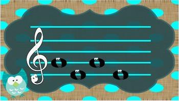 Sol Mi La Patterns owl and polka dot theme