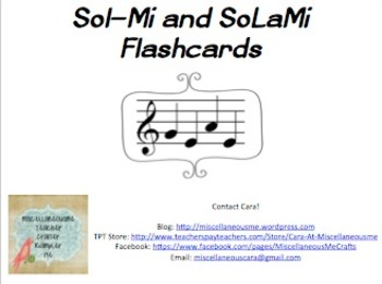 Sol-Mi & SoLaMi Notation Flashcards