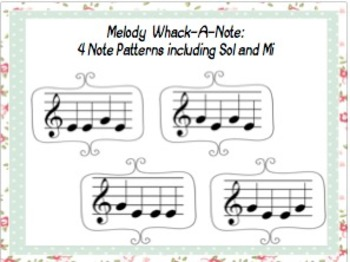 Sol-Mi & SoLaMi Standard Notation Flashcards and Whack-A-Note Combo