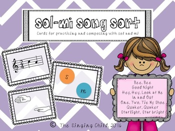 Sol-Mi Song Sort Cards for practice and composition