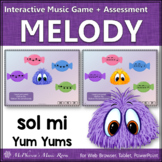 Solfege   Sol Mi Interactive Melody Game + Assessment {Yum Yums}