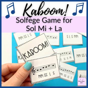 Sol-Mi and Sol-La-Mi Kaboom! for Elementary Music Centers