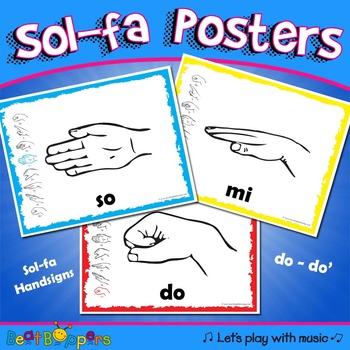 Sol-fa Handsign Posters / Kodaly / Curwen Hand signs