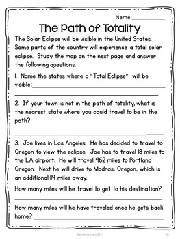 Solar Eclipse 2017:  Integrated Thematic Unit