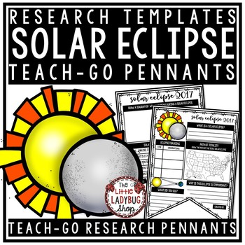 Solar Eclipse 2017 Activities Research Posters • Teach- Go Pennants™