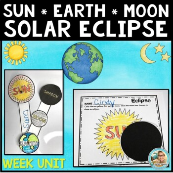 Solar Eclipse 2017 Activities WEEK LESSON PLAN with Crafts and Home Connection