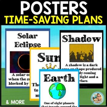 Sun Earth Moon Science Solar Eclipse UNIT