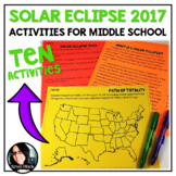 Solar Eclipse 2017 Activities and Lesson Plans for Middle School! August 21st
